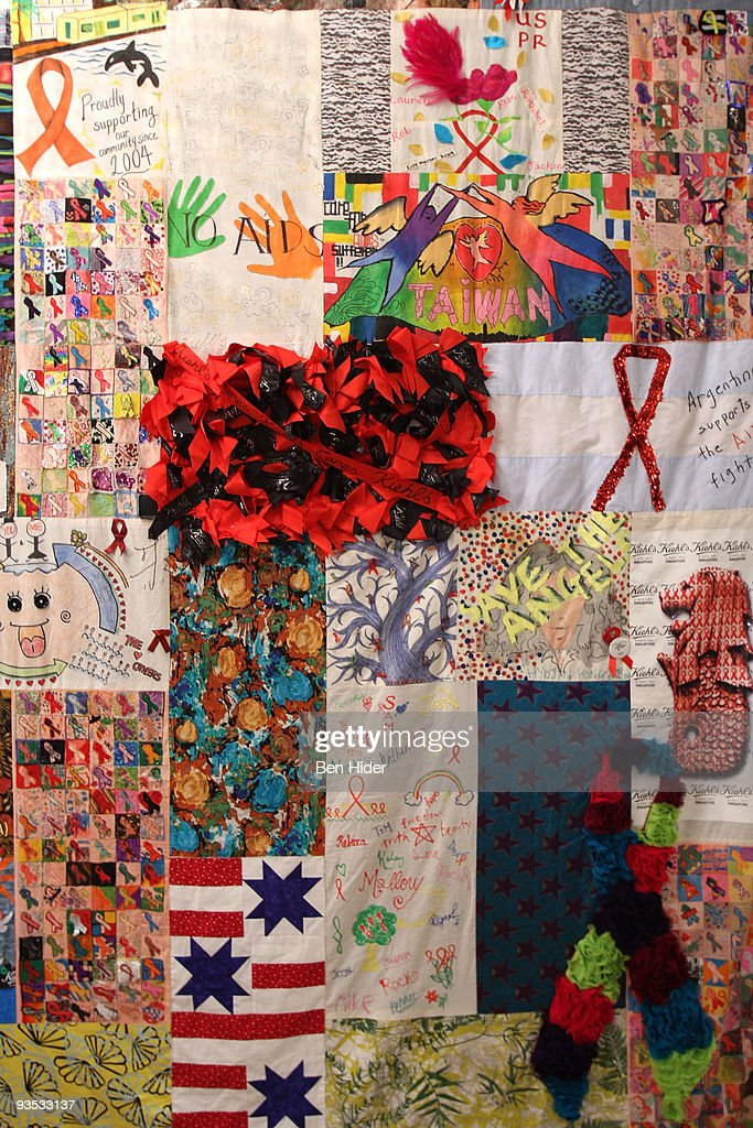 Kiehl's Unveils World AIDS Day Quilt Photos and Images | Getty Images : world aids day quilt - Adamdwight.com