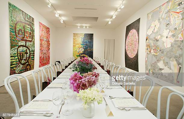 A general view at the Vogue and Mulberry Host Dinner to Celebrate Alexandra Grant Exhibition on September 23 2008 in Los Angeles California