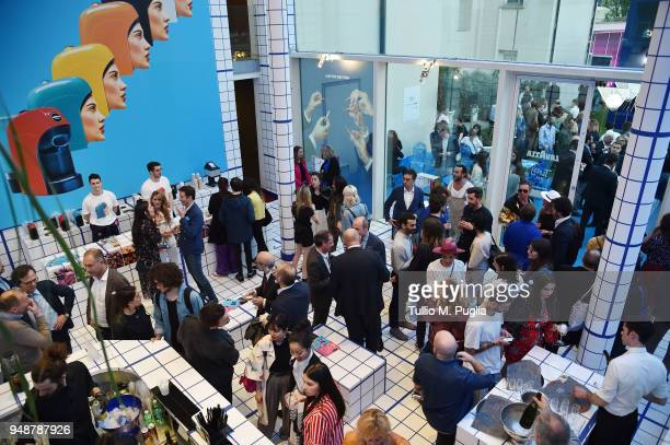 General view at Tiny Drinks on April 19 2018 in Milan Italy
