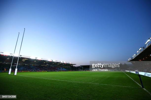 A general view at Twickenham Stoop on April 20 2018 in London England