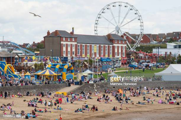 General view at Whitmore Bay at Barry Island on July 11, 2020 in Barry, Wales. Large parts of Wales' visitor, hospitality, leisure and tourism...