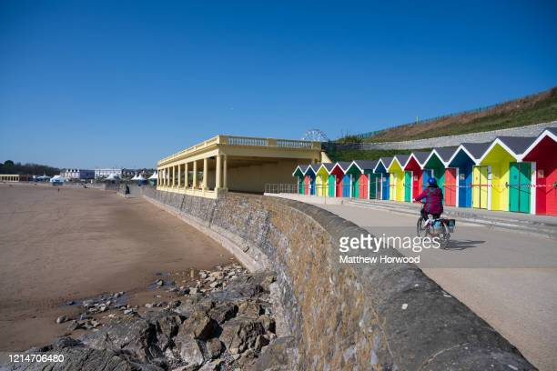 A general view at Whitmore Bay on March 25 2020 in Barry United Kingdom The Coronavirus pandemic has spread to at least 182 countries claiming over...