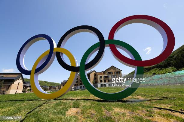 General view athletes' village for the Beijing 2022 Winter Olympic Games in Chongli on July 14, 2021 in Zhangjiakou, China. The Beijing Winter...