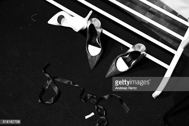 A general view backstage ahead of the Afffair show during the MercedesBenz Fashion Week Istanbul Autumn/Winter 2016 at Zorlu Center on March 17 2016...