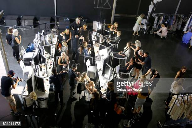 A general view backstage ahead of the Fashionyard show during Platform Fashion July 2017 at Areal Boehler on July 23 2017 in Duesseldorf Germany