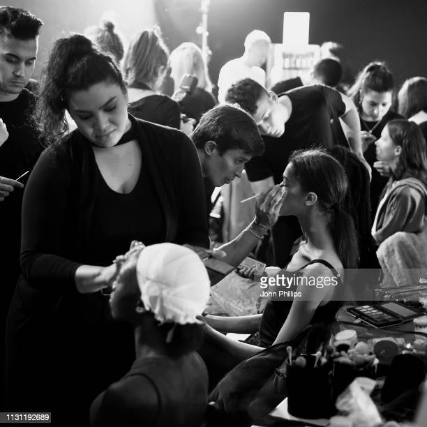 A general view backstage ahead of the Marco Rambaldi Supported By CNMI e CNMI Fashion Trust show at Milan Fashion Week Autumn/Winter 2019/20 on...