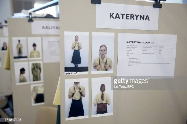 A general view backstage ahead of the Margaret Howell show during London Fashion Week September 2019 at Rambert on September 15 2019 in London England