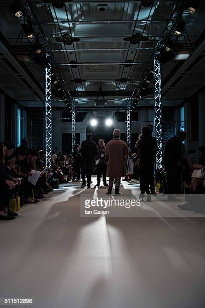 A general view backstage ahead of the Prophetik show at Fashion Scout during London Fashion Week Autumn/Winter 2016/17 at Freemasons' Hall on...