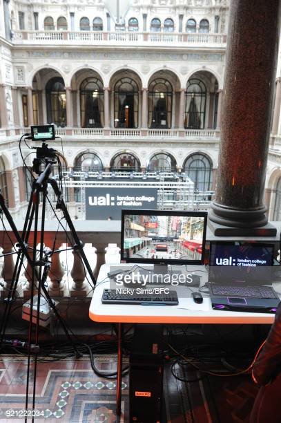 A general view backstage ahead of the steventai presentation during London Fashion Week February 2018 at British Foreign and Commonwealth Office on...