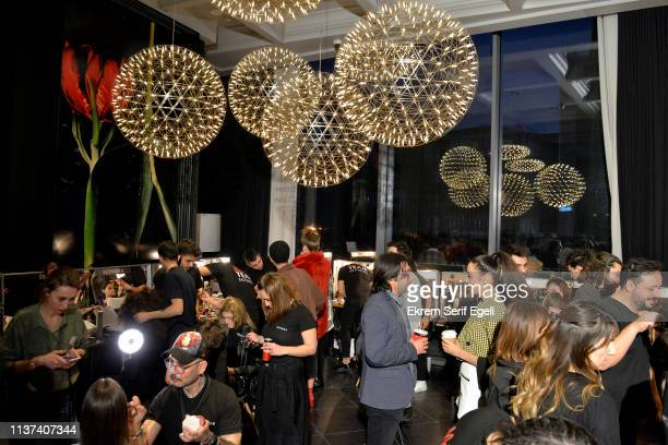 A general view backstage at the Ezra Tuba show during MercedesBenz Istanbul Fashion Week on March 21 2019 in Istanbul Turkey
