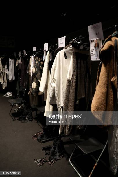 A general view backstage at the MiiN by Kadir Kilic show during MercedesBenz Istanbul Fashion Week at Zorlu Performance Hall on March 22 2019 in...