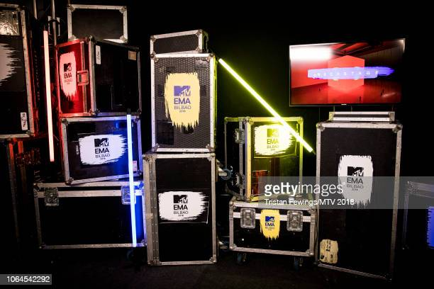 A general view backstage during the MTV EMAs 2018 at Bilbao Exhibition Centre on November 04 2018 in Bilbao Spain