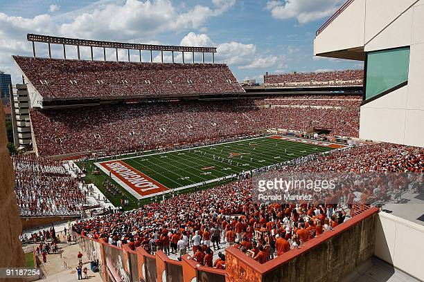 A general view before a game between the UTEP Miners and the Texas Longhorns at Darrell K RoyalTexas Memorial Stadium on September 26 2009 in Austin...