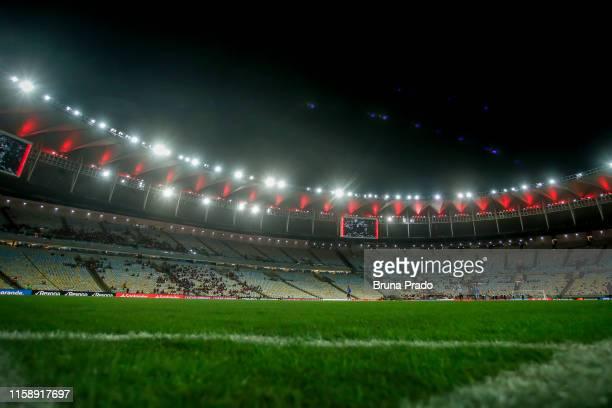General view before a match between Flamengo and Emelec as part of Copa CONMEBOL Libertadores 2019 at Maracana Stadium on July 31 2019 in Rio de...