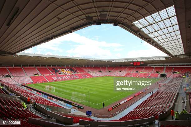 A general view before a preseason friendly match between Sunderland AFC and Celtic at the Stadium of Light on July 29 2017 in Sunderland England