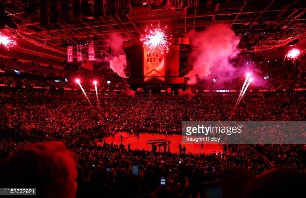 General view before Game One of the 2019 NBA Finals between the Golden State Warriors and the Toronto Raptors at Scotiabank Arena on May 30, 2019 in...