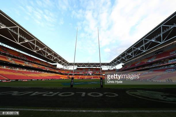 General view before game three of the State Of Origin series between the Queensland Maroons and the New South Wales Blues at Suncorp Stadium on July...