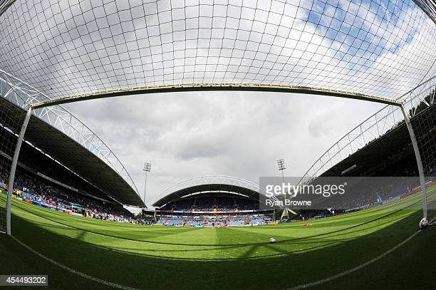 A general view before kick off at The King Power Stadium at the Galpharm Stadium on August 23 2014 in Huddersfield United Kingdom