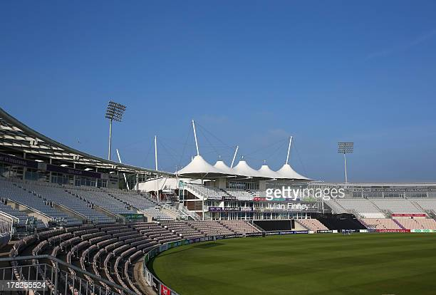 A general view before nets practice session at Ageas Bowl on August 28 2013 in Southampton England