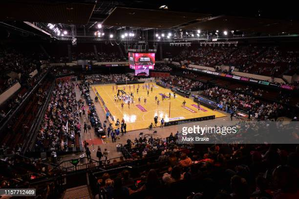 General view before start of the round 9 Super Netball match between the Thunderbirds and the Swifts at Adelaide Entertainment Centre on June 23 2019...