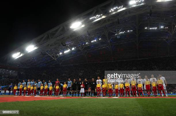 A general view before the 2018 FIFA World Cup Russia Round of 16 match between Uruguay and Portugal at Fisht Stadium on June 30 2018 in Sochi Russia
