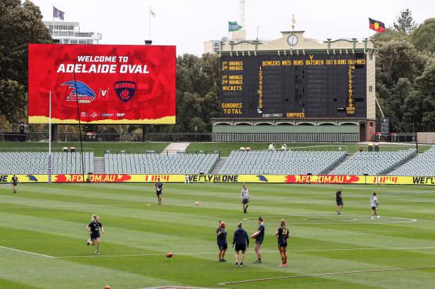 AUS: AFLW First Preliminary Final - Adelaide v Melbourne