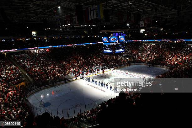 A general view before the 58th NHL AllStar Game at RBC Center on January 30 2011 in Raleigh North Carolina
