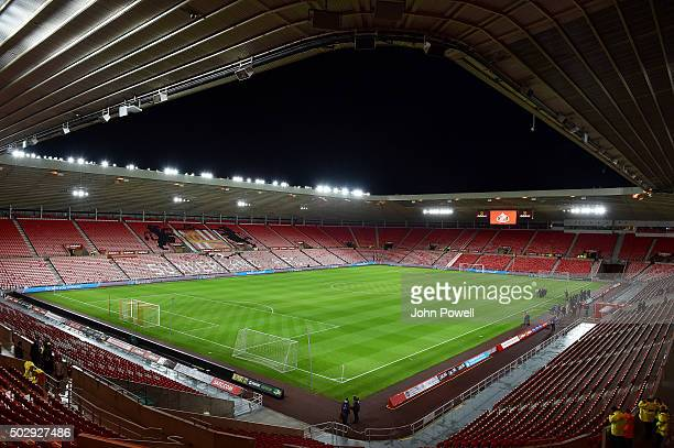 General view before the Barclays Premier League match between Sunderland and Liverpool at the Stadium of Light on December 30 2015 in Sunderland...