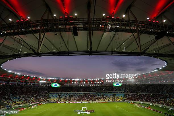 General view before the Brasileirao Series A 2016 match between Flamengo and Coritiba at Maracana Stadium on November 20 2016 in Rio de Janeiro Brazil