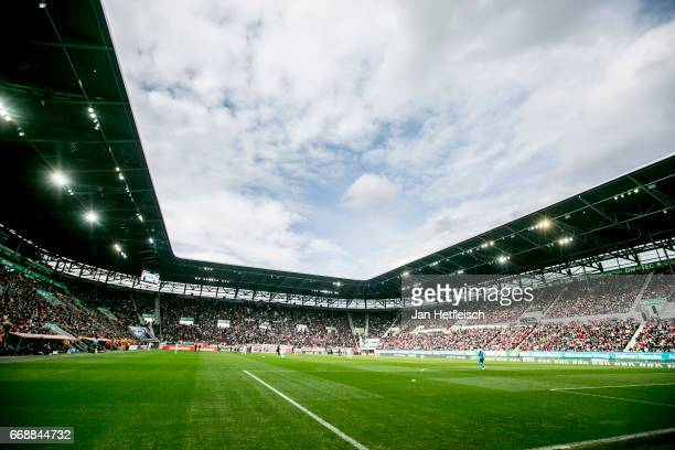 A general view before the Bundesliga match between FC Augsburg and 1 FC Koeln at WWK Arena on April 15 2017 in Augsburg Germany