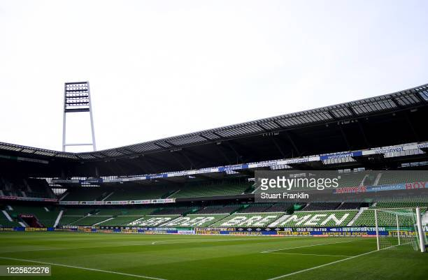 General view before the Bundesliga match between SV Werder Bremen and Bayer 04 Leverkusen at Wohninvest Weserstadion on May 18, 2020 in Bremen,...
