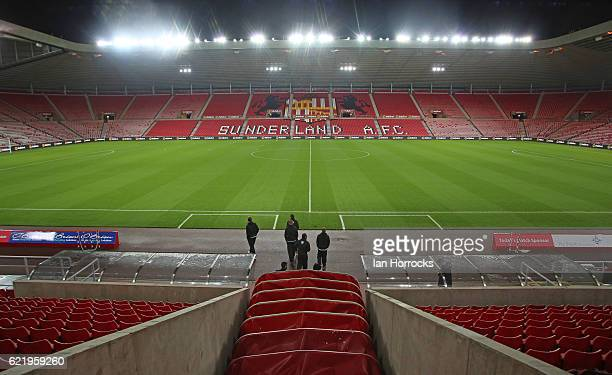A general view before the Checkatrade Trophy group stage match between Sunderland and Notts County at Stadium of Light on November 9 2016 in...