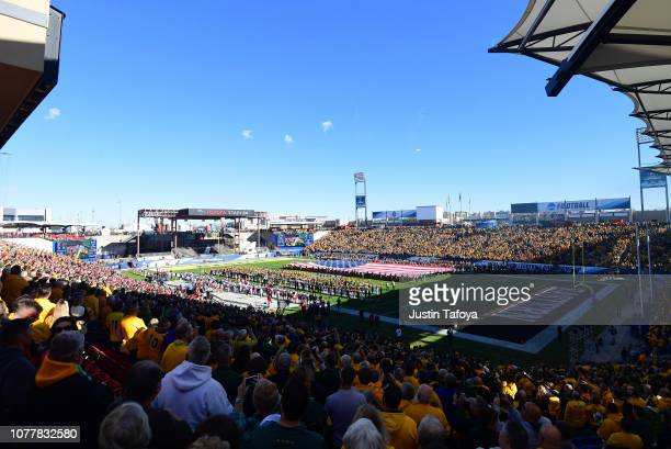 A general view before the Division I FCS Football Championship between the North Dakota State Bison and the Eastern Washington Eagles held at Toyota...