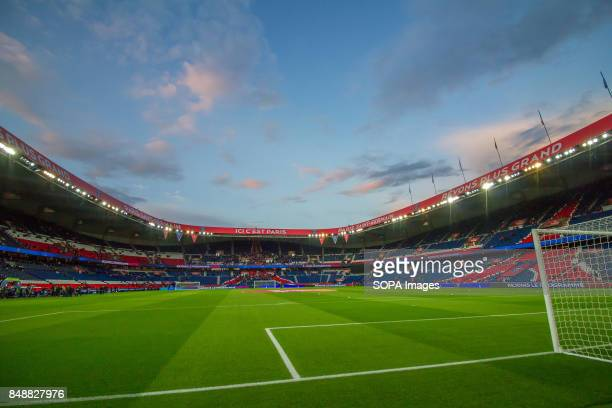 General view before the French Ligue 1 soccer match start between Paris Saint Germain and Olympique Lyonnais at Parc des Princes The match was won 20...