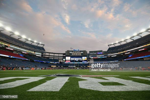 A general view before the game between the Indianapolis Colts and the New England Patriots at Gillette Stadium on October 4 2018 in Foxborough...