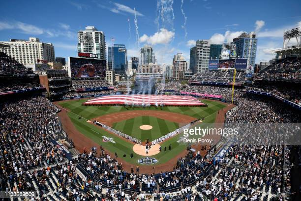 A general view before the game between the San Diego Padres and the San Francisco Giants on Opening Day at Petco Park March 28 2019 in San Diego...