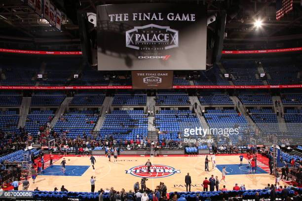 A general view before the game between the Washington Wizards and Detroit Pistons in the final game at the The Palace of Auburn Hills on April 10...