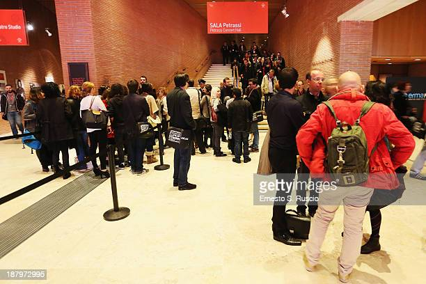 A general view before 'The Hunger Games Catching Fire' Premiere during the 8th Rome Film Festival at the Auditorium Parco Della Musica on November 14...