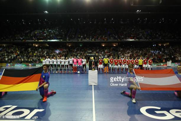 A general view before the Mens Gold Medal Indoor Hockey World Cup Berlin Final Day match between Germany and Austria on February 11 2018 in Berlin...