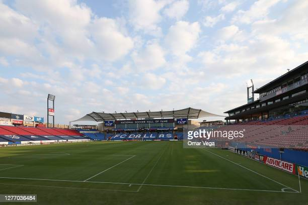 General view before the MLS game between FC Dallas and Orlando City at Toyota Stadium on September 27, 2020 in Frisco, Texas.