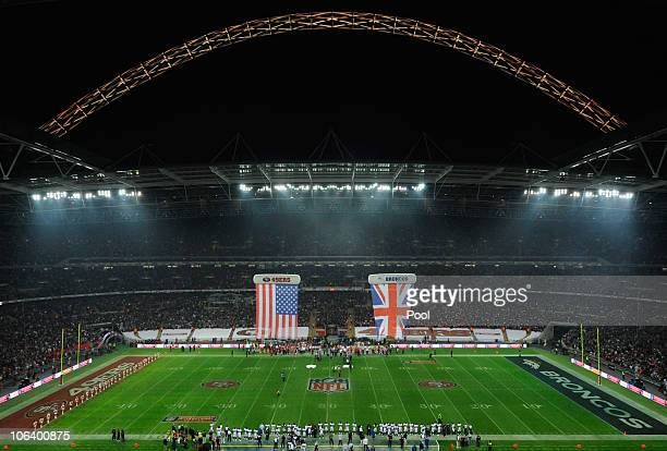 General view before the NFL International Series match between Denver Broncos and San Francisco 49ers at Wembley Stadium on October 31, 2010 in...