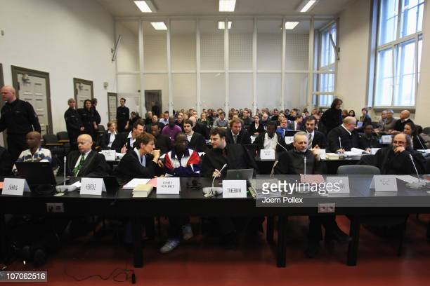 A general view before the opening of the trial against Somali priates at Hamburg Regional Court on November 22 2010 in Hamburg Germany A special unit...