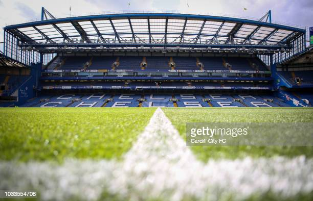 A general view before the Premier League match between Chelsea FC and Cardiff City at Stamford Bridge on September 15 2018 in London United Kingdom