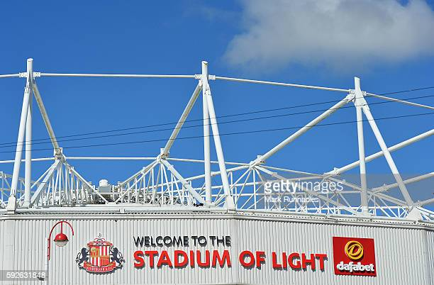 A general view before the Premier League match between Sunderland FC and Middlesbrough FC at Stadium of Light on August 21 2016 in Sunderland England