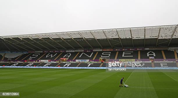 A general view before the Premier League match between Swansea City and Sunderland at Liberty Stadium on December 10 2016 in Swansea Wales