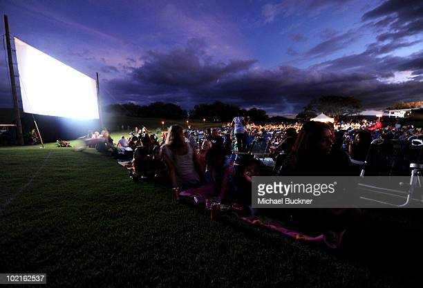 A general view before the presentation of the Shining Star Award at the Opening Night of the 2010 Maui Film Festival at the Celestial Cinema on June...
