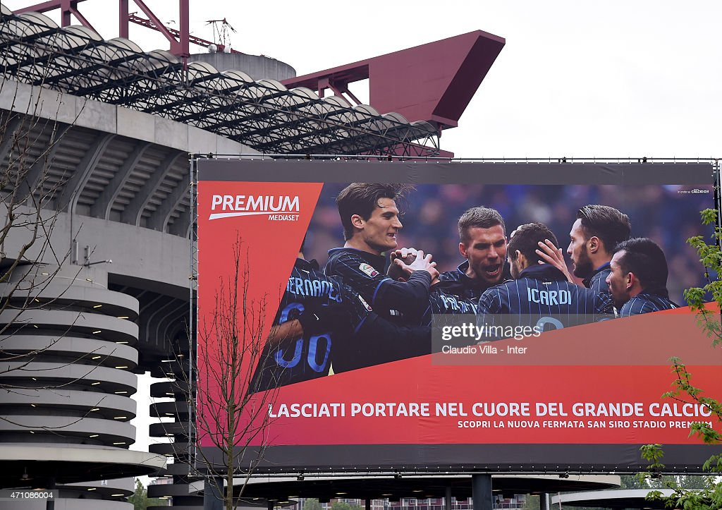 A general view before the Serie A match between FC Internazionale Milano and AS Roma at Stadio Giuseppe Meazza on April 25, 2015 in Milan, Italy.