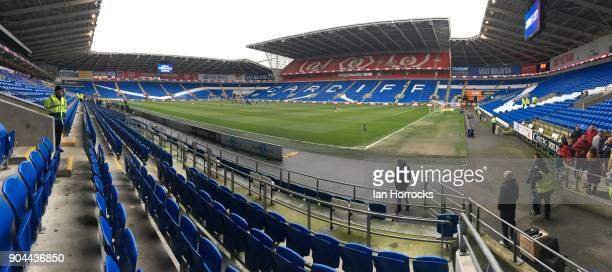 A general view before the Sky Bet Championship match between Cardiff City and Sunderland at Cardiff City Stadium on January 13 2018 in Cardiff Wales