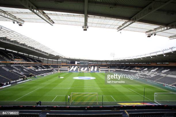 A general view before the Sky Bet Championship match between Hull City and Sunderland at KCOM Stadium on September 16 2017 in Hull England