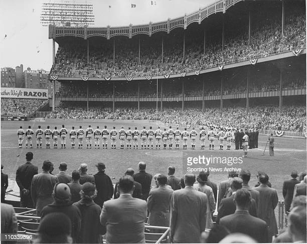 A general view before the start of the 1951 World Series between the New York Yankees and the New York Giants